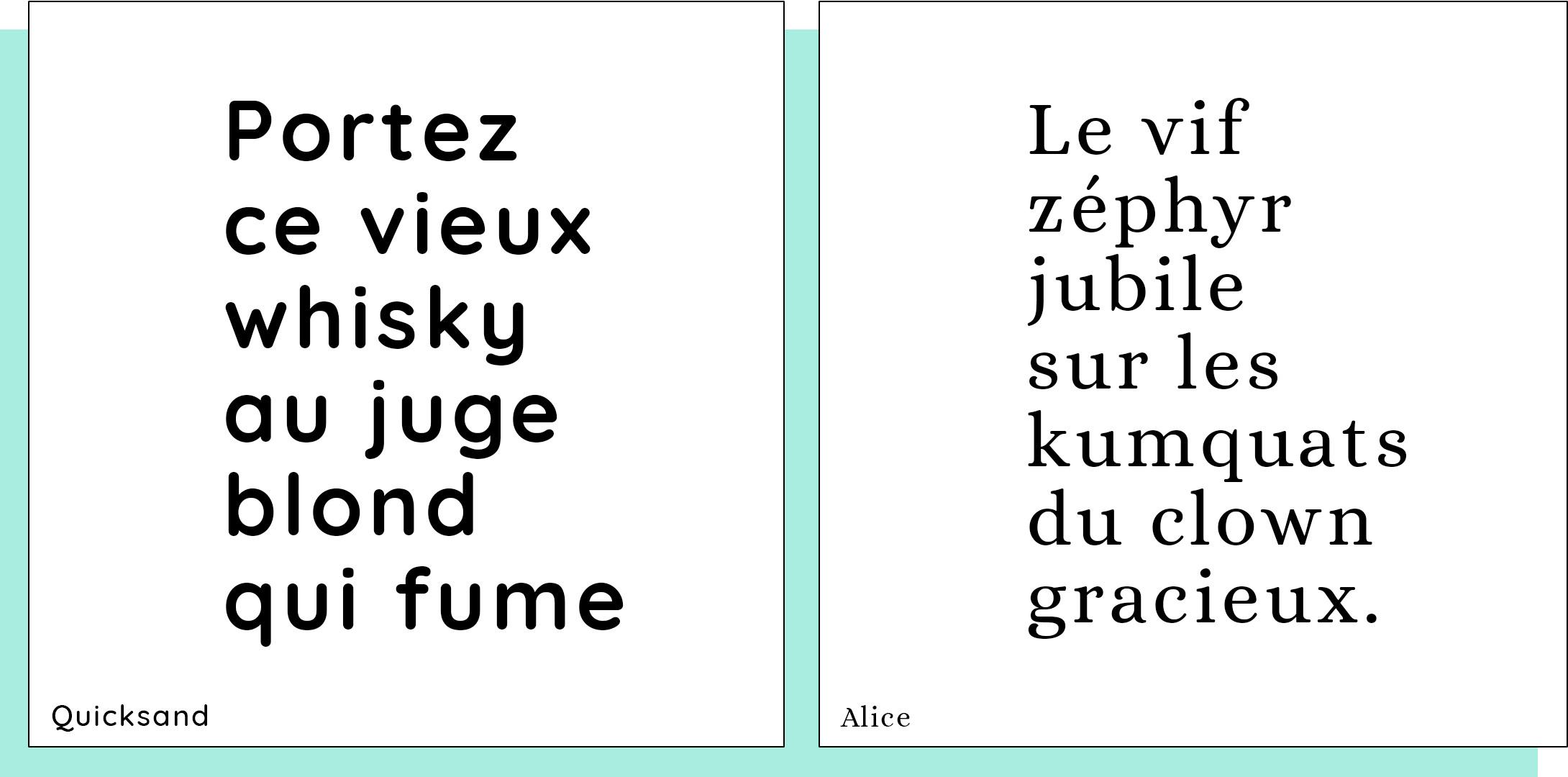 Beau market typographies